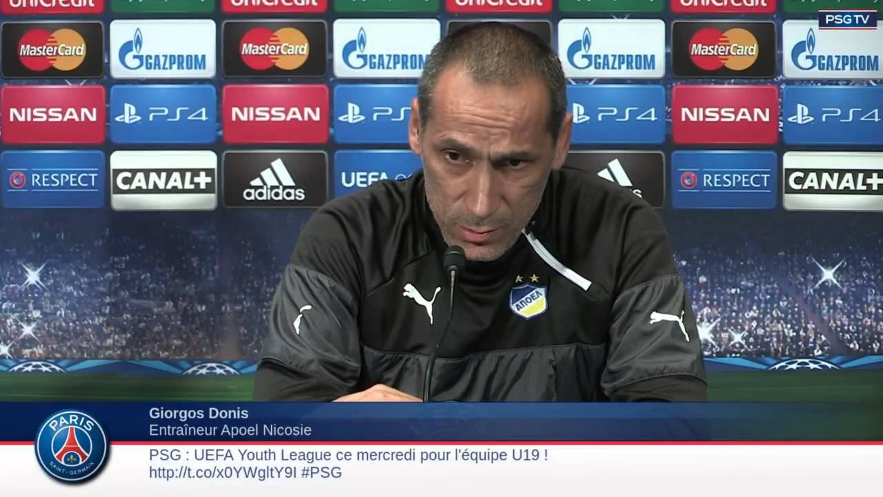 Conférence de presse de l'APOEL Nicosie